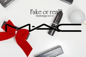 điểm khác biệt nhất giữa son MAC chính hãng và son MAC fake