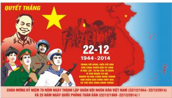 Bài thơ hay chào mừng ngày thành lập quân đôi nhân dân Việt Nam 22-12