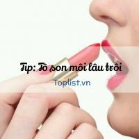 Cách giữ son môi lâu trôi khi đi tiệc