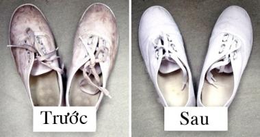 Cách làm sạch giày trắng, sáng màu hiệu quả nhất