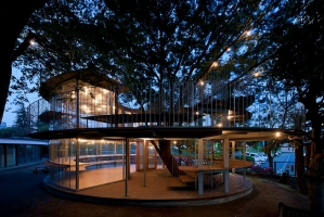 Công trình kiến trúc tuyệt vời nhất được xây quanh một cái cây