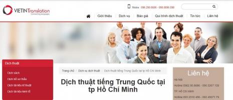 Công ty dịch thuật tiếng Trung uy tín nhất tại TP.HCM