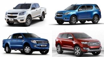 Mẫu xe SUV và bán tải được bình chọn tốt nhất 2017
