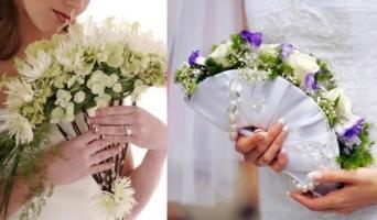 Kiểu hoa cầm tay cô dâu