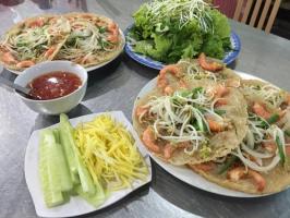 Địa chỉ thưởng thức bánh xèo tôm nhảy ngon nhất tại Bình Định