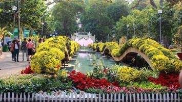 Hội hoa xuân đẹp nhất ở Sài Gòn