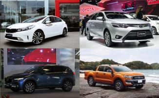 Mẫu xe ô tô bán chạy nhất trong tháng 1/2019