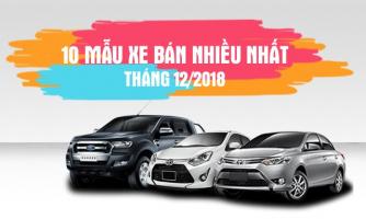 Mẫu xe ô tô bán được nhiều nhất trong tháng 12/2018