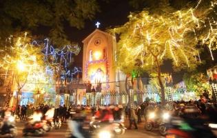 Nhà thờ lý tưởng nhất để bạn đón Giáng sinh (Noel) về đêm Hà Nội