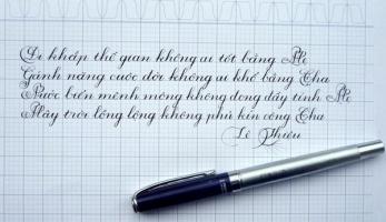 Cây viết máy thích hợp trong việc luyện chữ nét thanh đậm