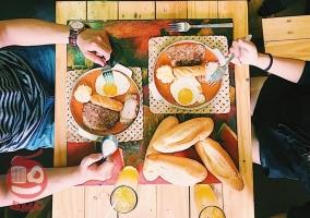 Quán bánh mỳ chảo vừa rẻ vừa ngon ở Hà Nội