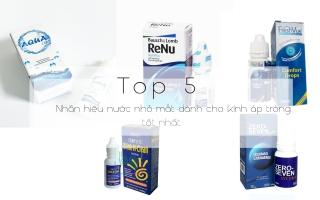 Nhãn hiệu nước nhỏ mắt tốt nhất dành cho kính áp tròng