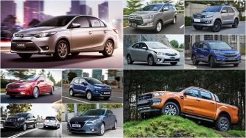 Xe ô tô bán chạy nhất Tháng 10/2016