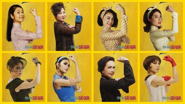 Dàn diễn viên Cô Ba Sài Gòn cùng bộ ảnh đề cao tinh thần nữ quyền