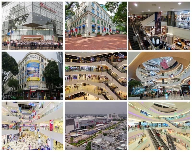 Top 15 Trung tâm thương mại ở thành phố Hồ Chí Minh