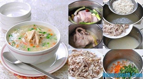 cách nấu cháo gà bổ dưỡng