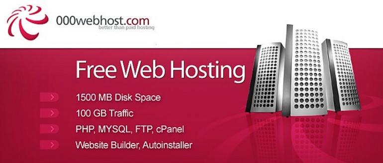 000webhost là dịch vụ hosting miễn phí tốt nhất và phổ biến nhất trên thị trường hiện nay.