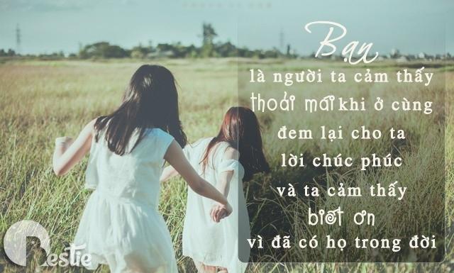 Tình bạn là một món quà thiêng liêng và cao quý mà chúng ta cần trân trọng.
