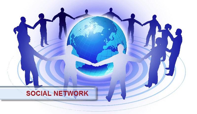 Mạng xã hội kết nối bạn bè khắp nơi trên thế giới.