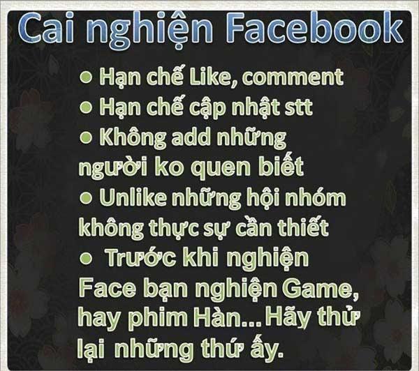 Gợi ý cai nghiện Facebook