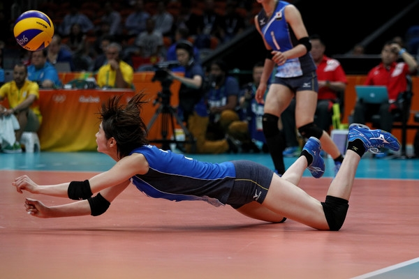 Một trong những pha cứu bóng rất hay của Saori tại Olympic Rio 2016