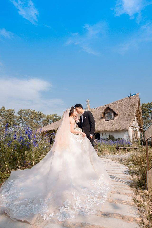 Ảnh cưới chụp ngoại cảnh lãng mạn