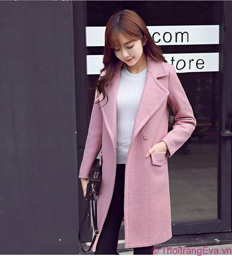 Áo khoác dạ cổ vest