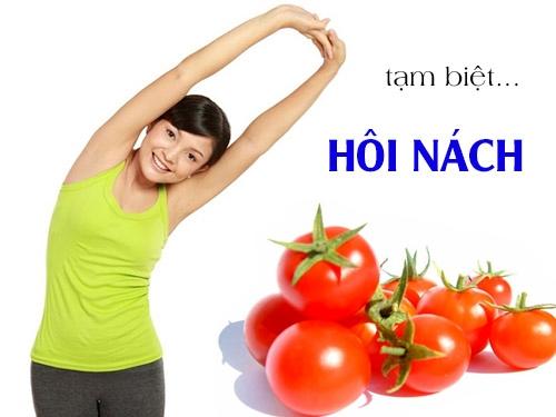 2. Cách trị thâm nách hiệu quả nhất bằng cà chua