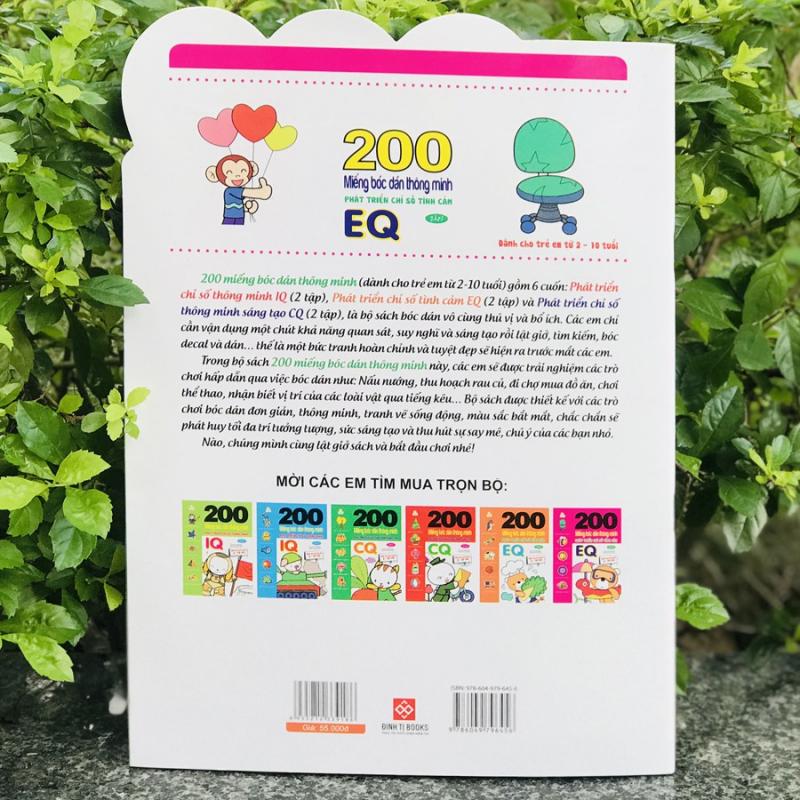 200 miếng bóc dán thông minh - phát triển chỉ số tình cảm