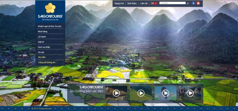 Giao diện website Saigontourist