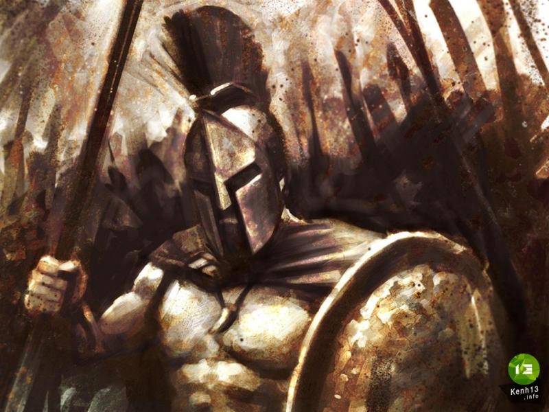 Hình ảnh cường điệu về 300 lính Sparta chiến đấu với quân Ba Tư