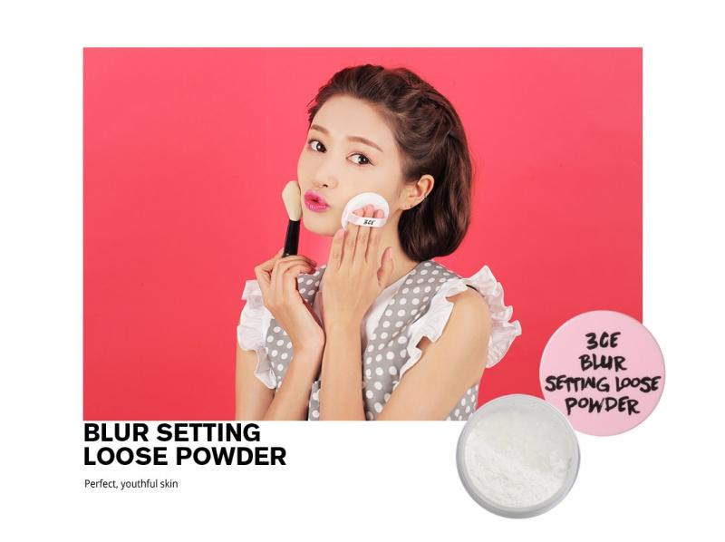 3CE Pink Rumour Blur Setting Loose Powder