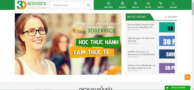 Website của 3D Services