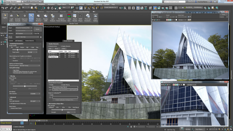 Một màn hình thiết kế của 3Ds Max