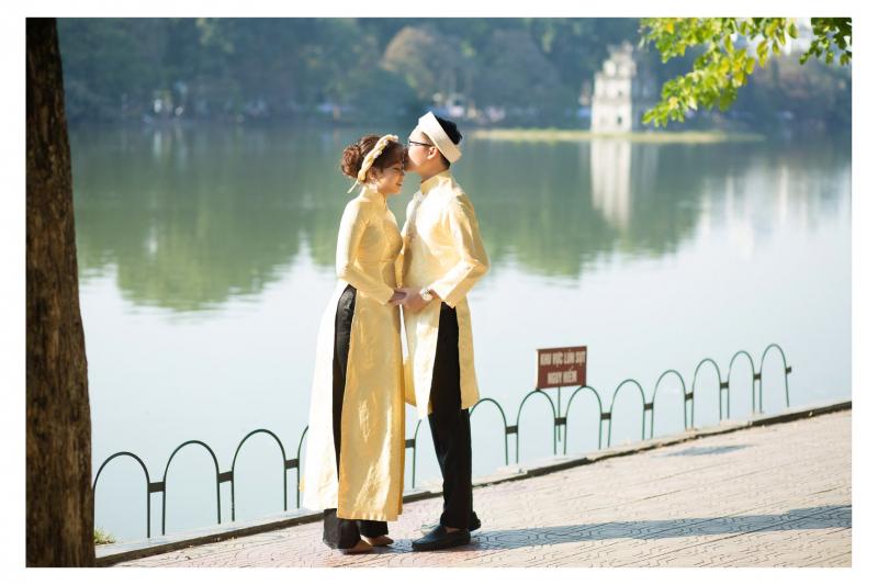 Bộ sưu tập áo dài cưới nhiều phong cách từ cổ điển, truyền thống cho tới hiện đại