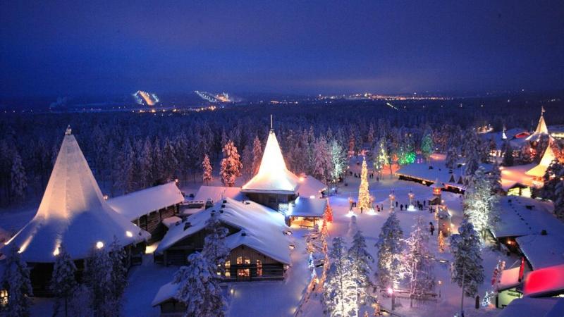 Lapland là một vùng đất phủ đầy tuyết trắng