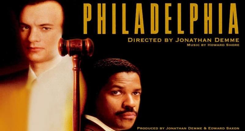Andrew và Joe trong phim Philadelphia