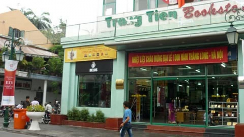 Cửa hàng sách trên phố Tràng Tiền
