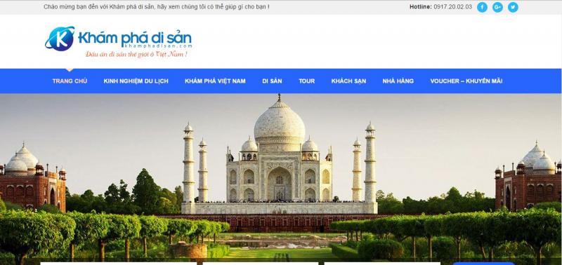 Giao diện Website Khamphadisan.com