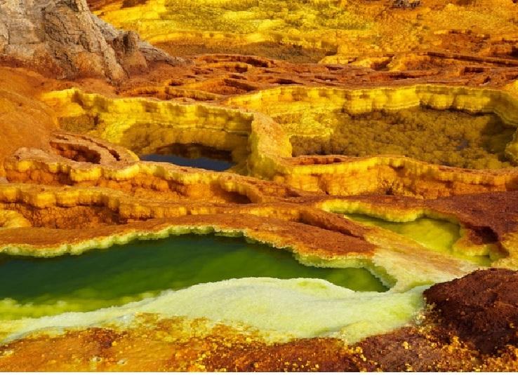 Sa mạc Danakil ở Ethiopia