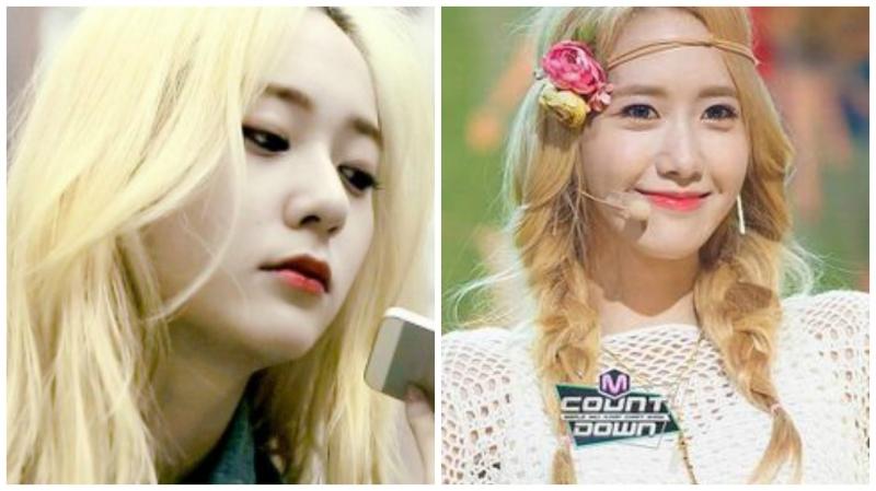 Tóc màu vàng được Yoona và Krystal trưng dụng trong những lần quảng bá