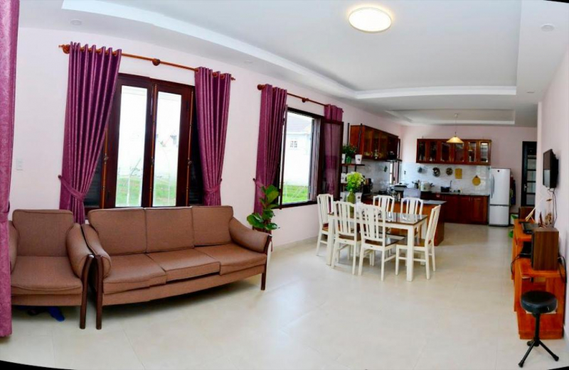Đây là dạng căn hộ nhỏ đầy đủ tiện nghi, không gian thiết kế đón ánh sáng, thoáng mát
