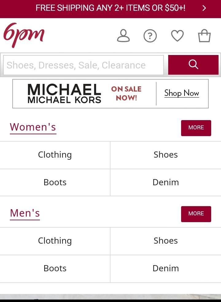Trang web bán hàng uy tín ở Mỹ 6PM.