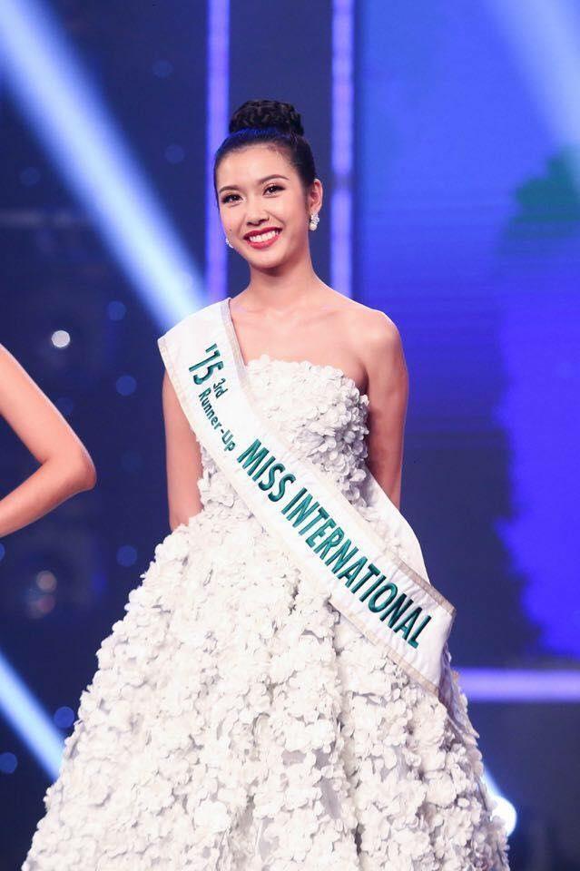 Á hậu Thúy Vân tại cuộc thi Miss International ( nguồn internet)