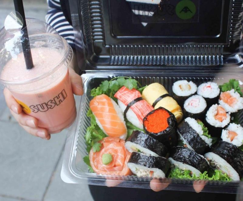 Combo sushi + nước