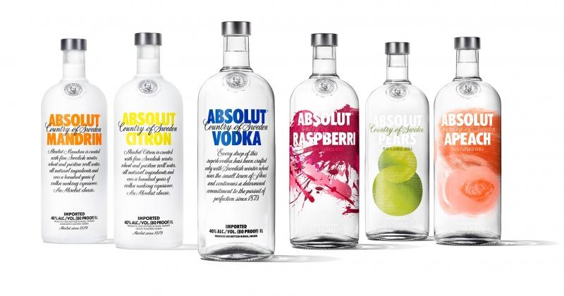 Absolut Vodka có khá nhiều hương vị để lựa chọn