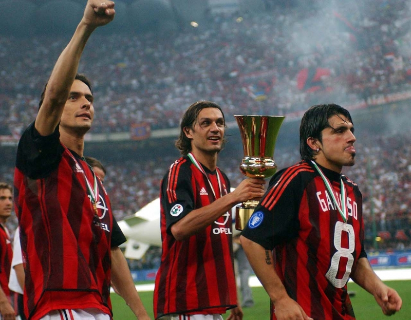 Inzaghi, Maldini, Gattuso cầm cúp vô địch năm 2003