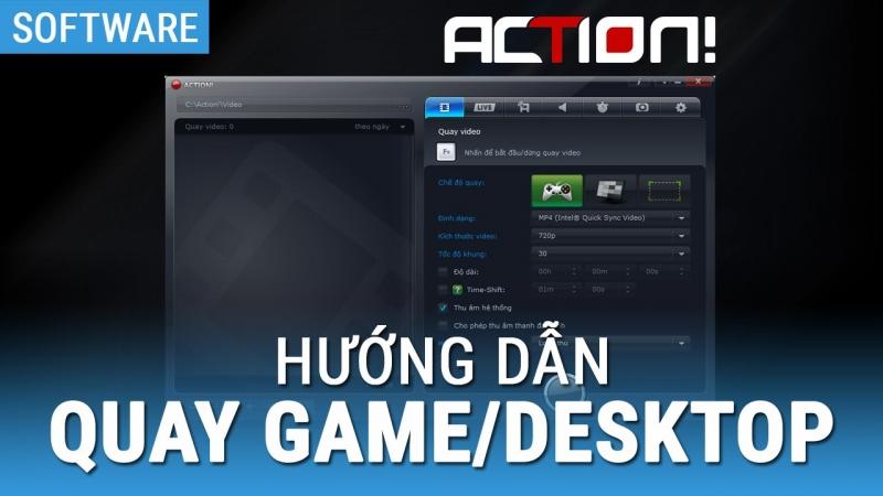 Phần mềm quay video game Action