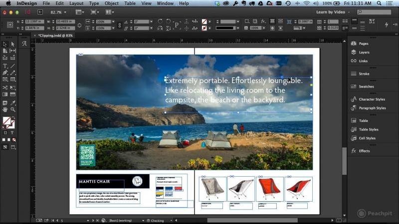Một màn hình thiết kế của InDesign