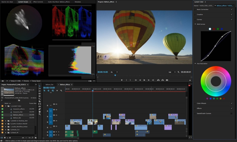 Adobe Premiere là phần mềm phù hợp cho cả người chuyên nghiệp và nghiệp dư.